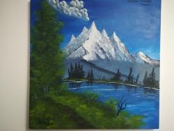 Picturi cu peisaje Prin Alpii Austrieci