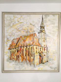 Picturi cu peisaje Biserica Neagră