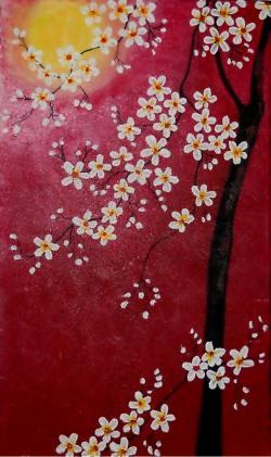 Picturi cu peisaje Sakura - Cires Inflorit