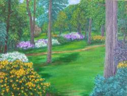 Picturi cu peisaje Carare in parc