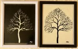 Picturi cu peisaje Alb negru