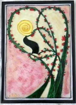 Picturi cu peisaje Poveste cu primăvară și flori de cires