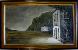 Picturi cu peisaje Crepuscul la sanatoriu