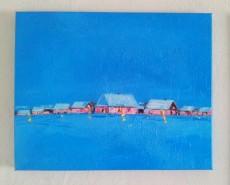 Picturi cu peisaje Iarna senina
