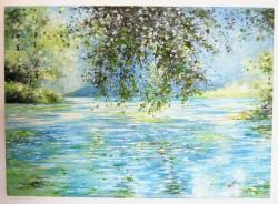 Picturi cu peisaje Lac de munte
