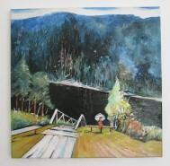 Picturi cu peisaje Liniste montana