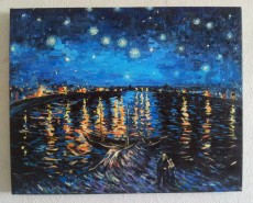 Picturi cu peisaje Noaptea instelata