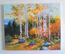 Picturi cu peisaje Toamna pe deal