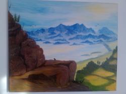 Picturi cu peisaje drumetie