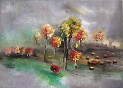 Picturi cu peisaje Linistea de la masa tacerii