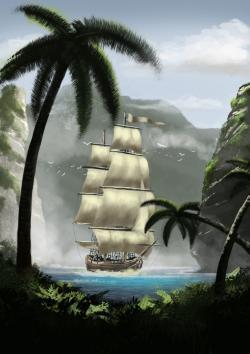 Picturi cu peisaje Corabie