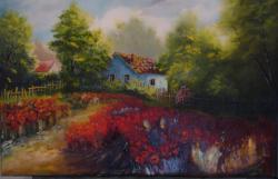 Picturi cu peisaje LANGA CAMP