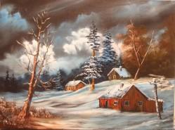 Picturi cu peisaje Printre dealuri