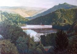 Picturi cu peisaje Frumusete trista (dimineata in Geamana)