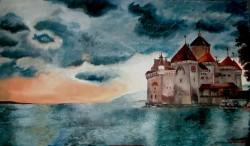 Picturi cu peisaje Castelul chillon