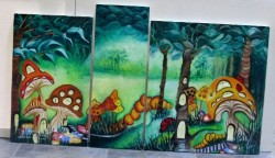 Picturi cu peisaje Dumbrava minunata