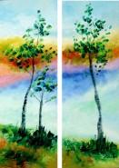 Picturi cu peisaje Pe coline, adiere de primavara