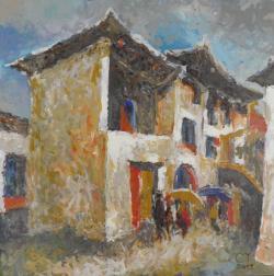 Picturi cu peisaje Colt de strada