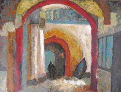 Picturi cu peisaje Intrarea in muzeu