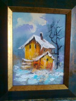 Picturi cu peisaje AMINTIRI  DE LA TARA
