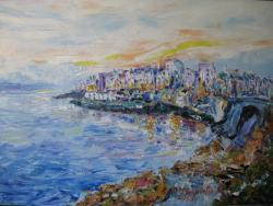 Picturi cu peisaje SUNSET PLYMOUTH