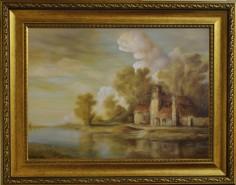 Picturi cu peisaje Dan scurtu - river scene