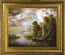 Picturi cu peisaje Dan scurtu - River Scene 4