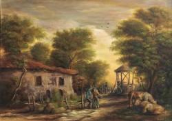 Picturi cu peisaje Dan scurtu - scena rurala
