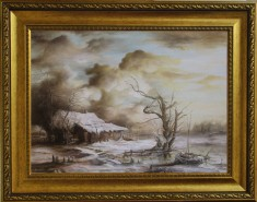Picturi cu peisaje Dan scurtu - winter landscape