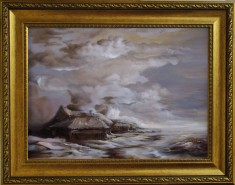 Picturi cu peisaje Dan scurtu - winter scene