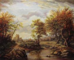 Picturi cu peisaje Landscape with Distant Ruins