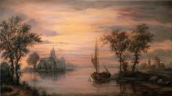 Picturi cu peisaje Peisaj de seara 2