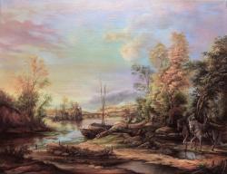 Picturi cu peisaje River Scene