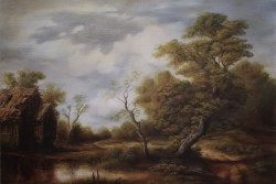 Picturi cu peisaje Scena din tinutul momarlanilor