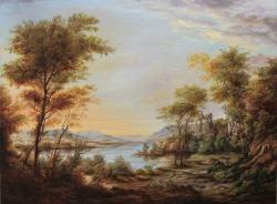 Picturi cu peisaje Sunset Scene
