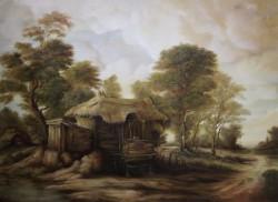 Picturi cu peisaje Un hambar parasit din tinutul momarlanilor