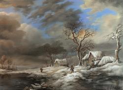 Picturi cu peisaje Winter Landscape