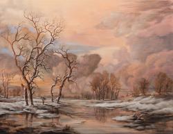 Picturi cu peisaje Winter Sunset