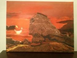 Picturi cu peisaje Sfinxul din Bucegi
