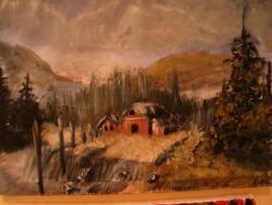 Picturi cu peisaje Casuta din marginea padurii