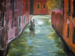 Picturi cu peisaje Gondolierul venetian