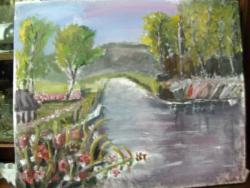 Picturi cu peisaje Lacul de argint