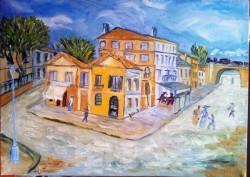 Picturi cu peisaje Casa galbena