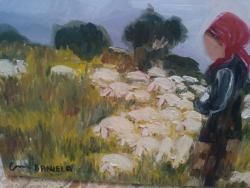 Picturi cu peisaje ciobanita cod129