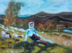 Picturi cu peisaje cod 142 pastorita