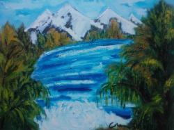 Picturi cu peisaje peisaji-munte,,cod 0027