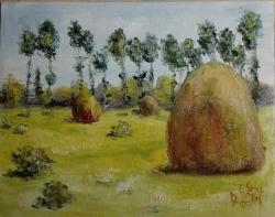 Picturi cu peisaje Capite si copaci inalti