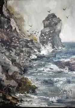 Picturi cu peisaje Colonia randunicilor de mare