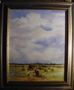 Picturi cu peisaje La munca intre cer si pamant
