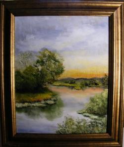 Picturi cu peisaje Liniste in amurg